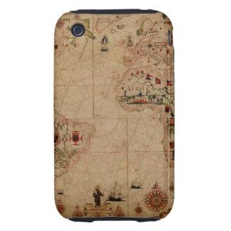 1633 carta de Portolan del océano de Atantic - iPhone 3 Tough Cobertura