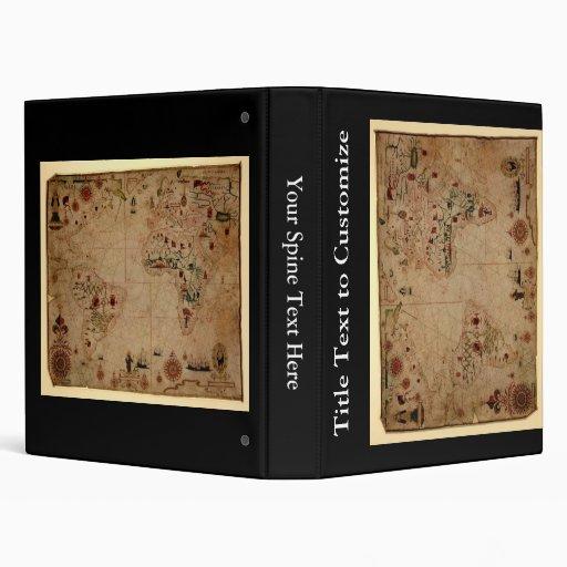 1633 carta de Portolan del océano de Atantic - Pas