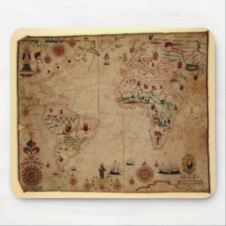 1633 carta de Portolan del océano de Atantic - Pas Alfombrilla De Ratones