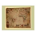 1633 carta de Portolan del océano de Atantic - Pas Postal