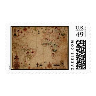 1633 carta de Portolan del océano de Atantic - Sellos