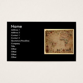 1633 carta de Portolan del océano de Atantic - Tarjeta De Negocios