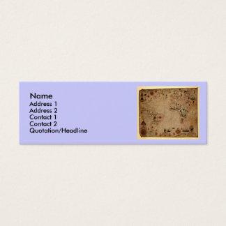 1633 carta de Portolan del océano de Atantic - Tarjeta De Visita Pequeña