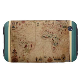1633 carta de Portolan del océano de Atantic - Tough iPhone 3 Carcasa