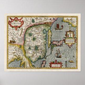 1633 China Map Poster