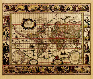 Blaeu World Map.Blaeu World Map Office Products Supplies Zazzle