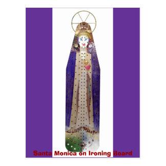 1641, Santa Monica on Ironing Board Postcard