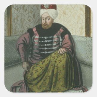 1642-93) sultanes IV de Mahomet (Mehmed) (1648-87, Calcomania Cuadradas Personalizada