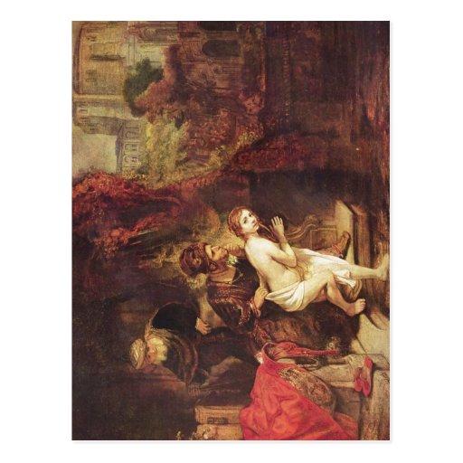1647 Rembrandt - Susanna und die beiden Alten Remb Postcard