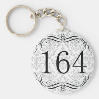 164 Area Code Key Chains