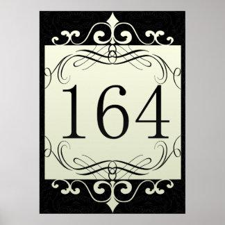 164 Area Code Print