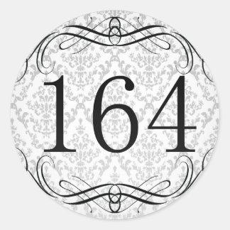 164 Area Code Round Sticker