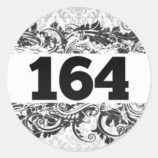 164 ROUND STICKER