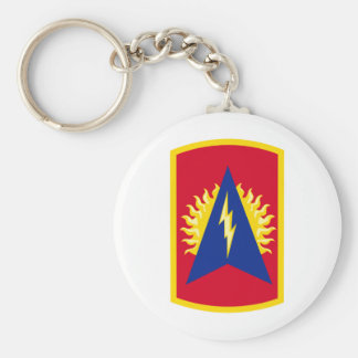 164th Air Defense Artillery Brigade Color Basic Round Button Keychain