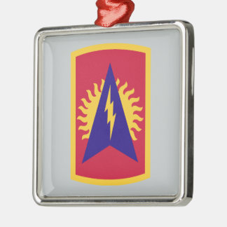 164th Air Defense Artillery Brigade Square Metal Christmas Ornament