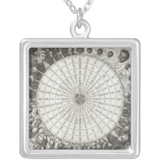 1650 Jansson Wind Rose Silver Plated Necklace