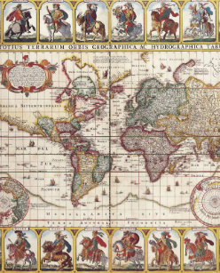 World atlas bags handbags zazzle 1652 map of the world doncker sea atlas world map backpack gumiabroncs Choice Image