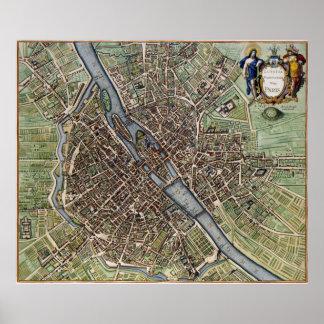 1657 Paris Map Poster