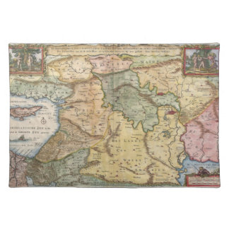 1657 Visscher Map of the Holy Land Placemat
