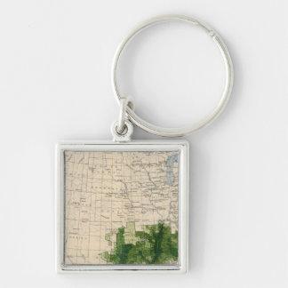 165 Cotton/sq mile Keychain
