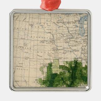 165 Cotton/sq mile Metal Ornament