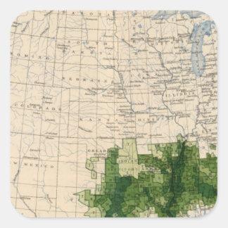 165 Cotton/sq mile Square Sticker