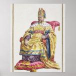 1662-1722) emperadores Manchu de Kang Tsi (de Chin Poster