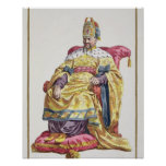 1662-1722) emperadores Manchu de Kang Tsi (de Chin Póster