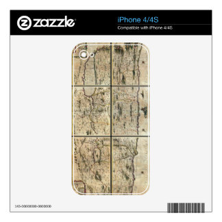 1662 Janson Hornius Holy Land Israel Palestine Map iPhone 4S Decals