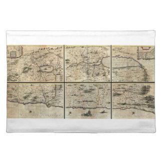 1662 Janson Hornius Holy Land Israel Palestine Map Placemat