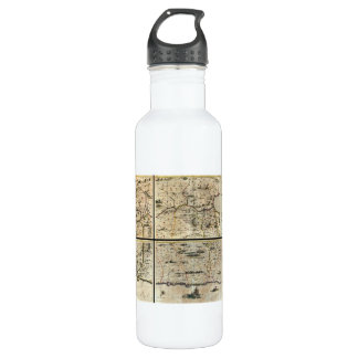 1662 Janson Hornius Holy Land Israel Palestine Map Stainless Steel Water Bottle