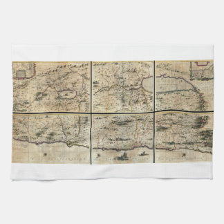 1662 Janson Hornius Holy Land Israel Palestine Map Towel