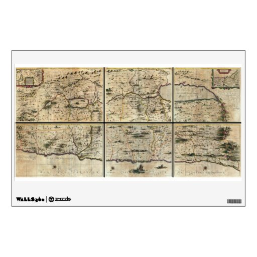 1662 Janson Hornius Holy Land Israel Palestine Map Wall Stickers