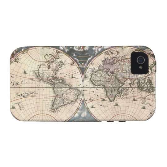 1664 Vintage World Map iPhone 4 Case