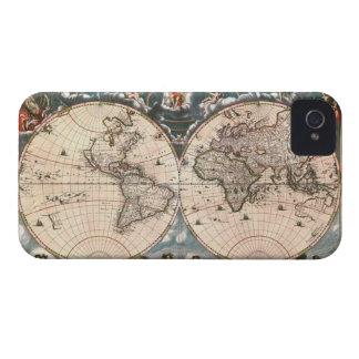 1664 Vintage World Map iPhone 4 Case
