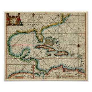 1666 Chart of Carribean