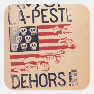 [1668] Nixon_Propaganda_poster Square Sticker