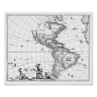 1671 mapa Totius Americae Descriptio Posters