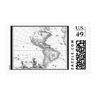 1671 mapa Totius Americae Descriptio Franqueo