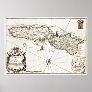 1671 St. Croix Danish West Indies Virgin Islands p Poster