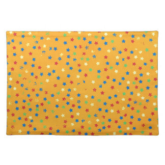 16753 BRIGHT ORANGE BACKGROUND BLUE RED GREEN YELL PLACEMATS