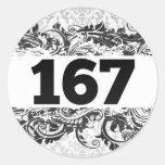 167 ETIQUETA REDONDA