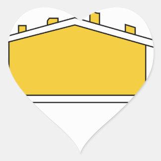 167th Infanterie Division Logo Heart Sticker