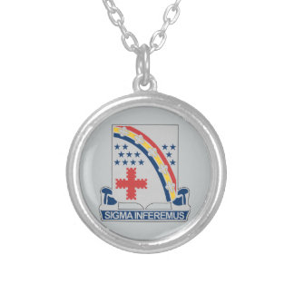 167th Infantry Regiment Silver Plated Necklace