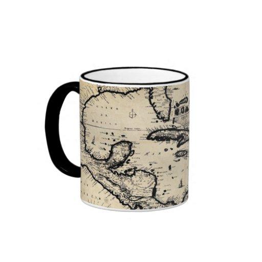 1680 Caribbean Map Mug
