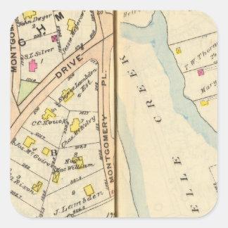 168169 New Rochelle Pegatina Cuadrada