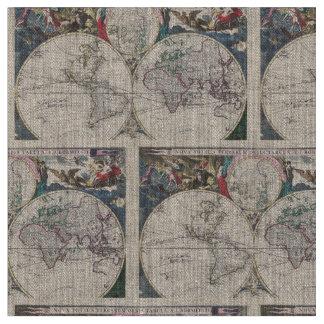 Worksheet. Vintage Map Fabric  Zazzle