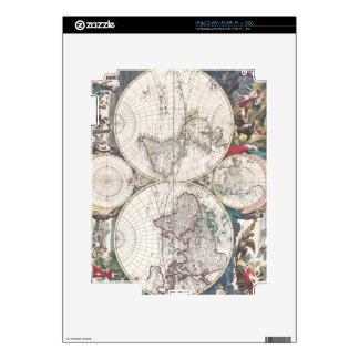 1685 Bormeester Map of the World Decals For iPad 2