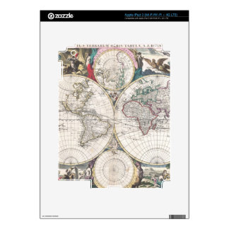 1685 Bormeester Map of the World iPad 3 Decal
