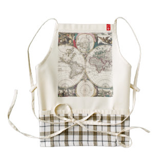 1685 Bormeester Map of the World Zazzle HEART Apron